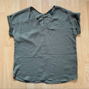 Green Boxy Forever 21 Top
